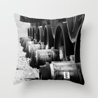 Rail Wheel Throw Pillow