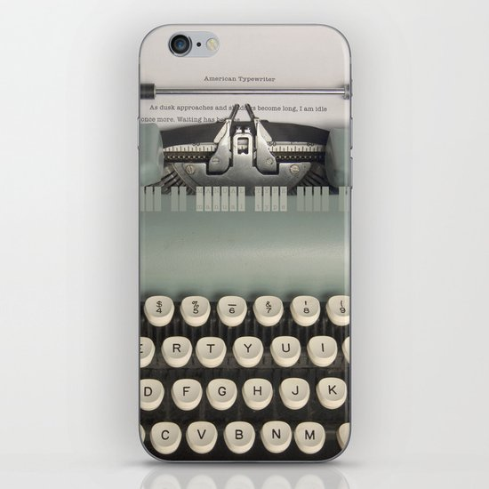 American Typewriter iPhone & iPod Skin
