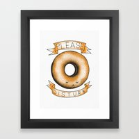 Please, Donut Disturb Framed Art Print
