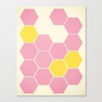 Pink Honeycomb Canvas Print