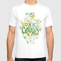 CELTICS Mens Fitted Tee White SMALL