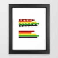 Skittle Stats Framed Art Print
