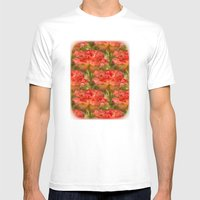 Roses Galore Mens Fitted Tee White SMALL