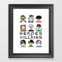Heroes & Villains Framed Art Print