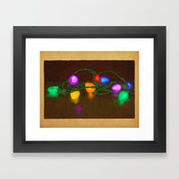 All Lit Up Framed Art Print