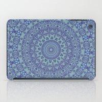 Shades of blue mandala iPad Case