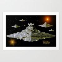 Galactic Battle Cruisers… Art Print