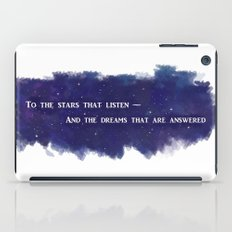 To the Stars that Listen (White) - A Court of Mist and Fury iPad Case