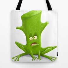 Log in a Frog Tote Bag