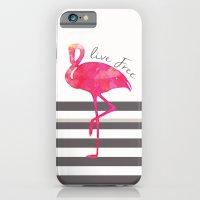 Live Free Flamingo  iPhone 6 Slim Case