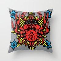 Cthulhu Rising: Basatan Throw Pillow
