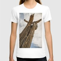 Saguaro Skeleton Womens Fitted Tee White SMALL