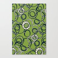 Honolulu hoopla green Canvas Print
