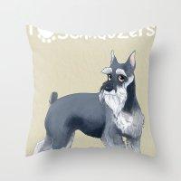 Schnauzer Throw Pillow