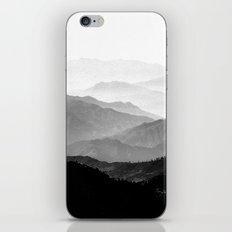 Mountain Mist - Black An… iPhone & iPod Skin