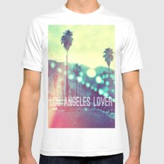 LA Lover Mens Fitted Tee White SMALL