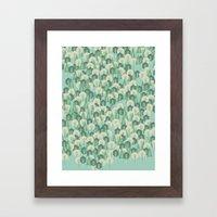 Geometric Woods Framed Art Print