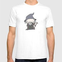 Gandalf Mens Fitted Tee White SMALL
