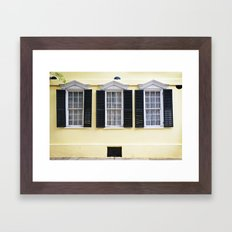 Sunny Charleston Windows Framed Art Print