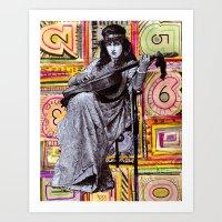 Guitarist In Time Art Print