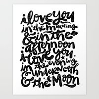 LOVE YOU IN THE MORNING... Art Print