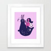 Planet Princess Framed Art Print