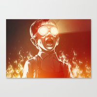 FIREEE! Canvas Print