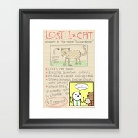 Antics #366 - Here Kitty… Framed Art Print