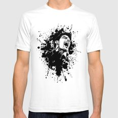 The scream Mens Fitted Tee SMALL White