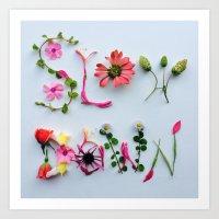 Botanical Font Art Print