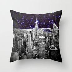 New York City Indigo Stars Throw Pillow