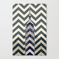 Chevron Empire Canvas Print