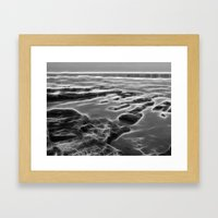 Abstract coastal rock formations in Queensland Framed Art Print
