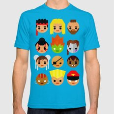 Street Fighter 2 Mini Mens Fitted Tee Teal SMALL