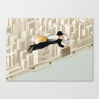 The Morning Commute Canvas Print