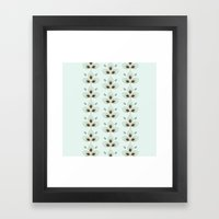 Mint Blossoms Framed Art Print