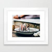 Paintbrushes Framed Art Print