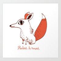 Herbert le renard Art Print