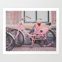 bike Art Prints featuring Bike by Hello Twiggs