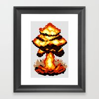 Digital Destruction Framed Art Print