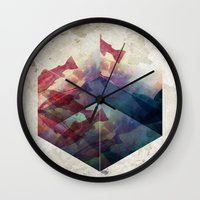 Red and Blue Wall Clock