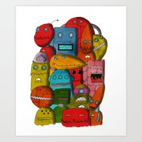Robots Of Cornwall Art Print