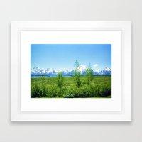 Spring Tetons Framed Art Print