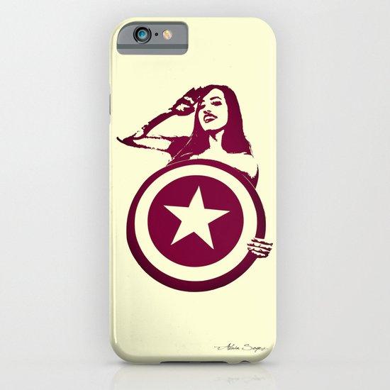 Captain Girl America iPhone & iPod Case