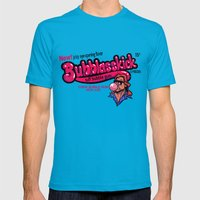 BUBBLASSKICK Mens Fitted Tee Teal SMALL