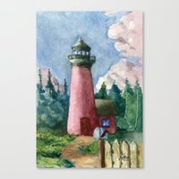 Cozy Lighthouse Canvas Print
