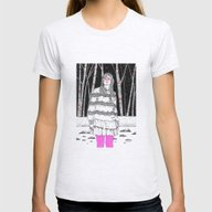 I'm Not Afraid Of You Womens Fitted Tee Ash Grey SMALL
