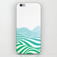 Green wave iPhone & iPod Skin
