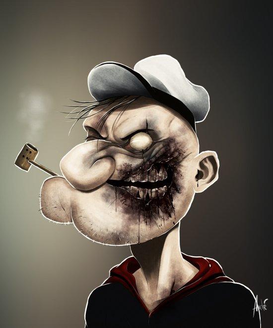 Zombie Popeye Art Print