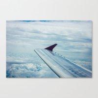 Skying Canvas Print